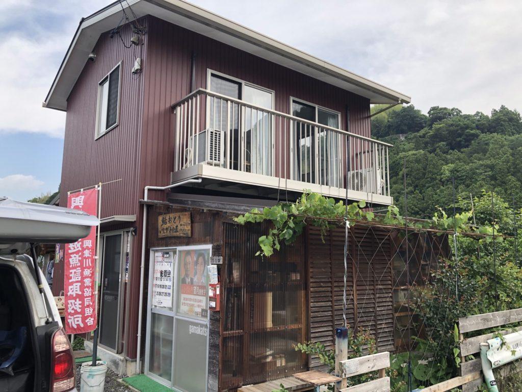 興津川 イシガキ小屋