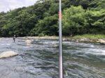 今シーズン初、「早川」にて鮎釣り!一時は入れ掛かりも・・